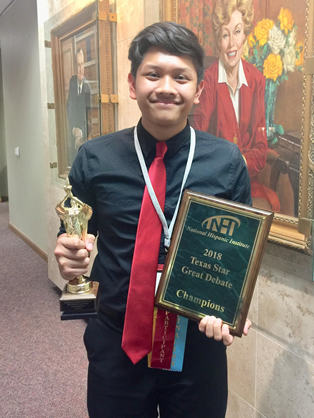 Klein Oak Student Earns Elite Title at Debate Competition
