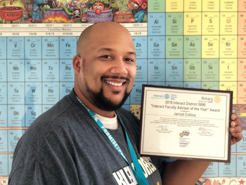 Klein Forest Teacher Named Interact District Adviser of the Year