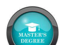 Button with graduation cap
