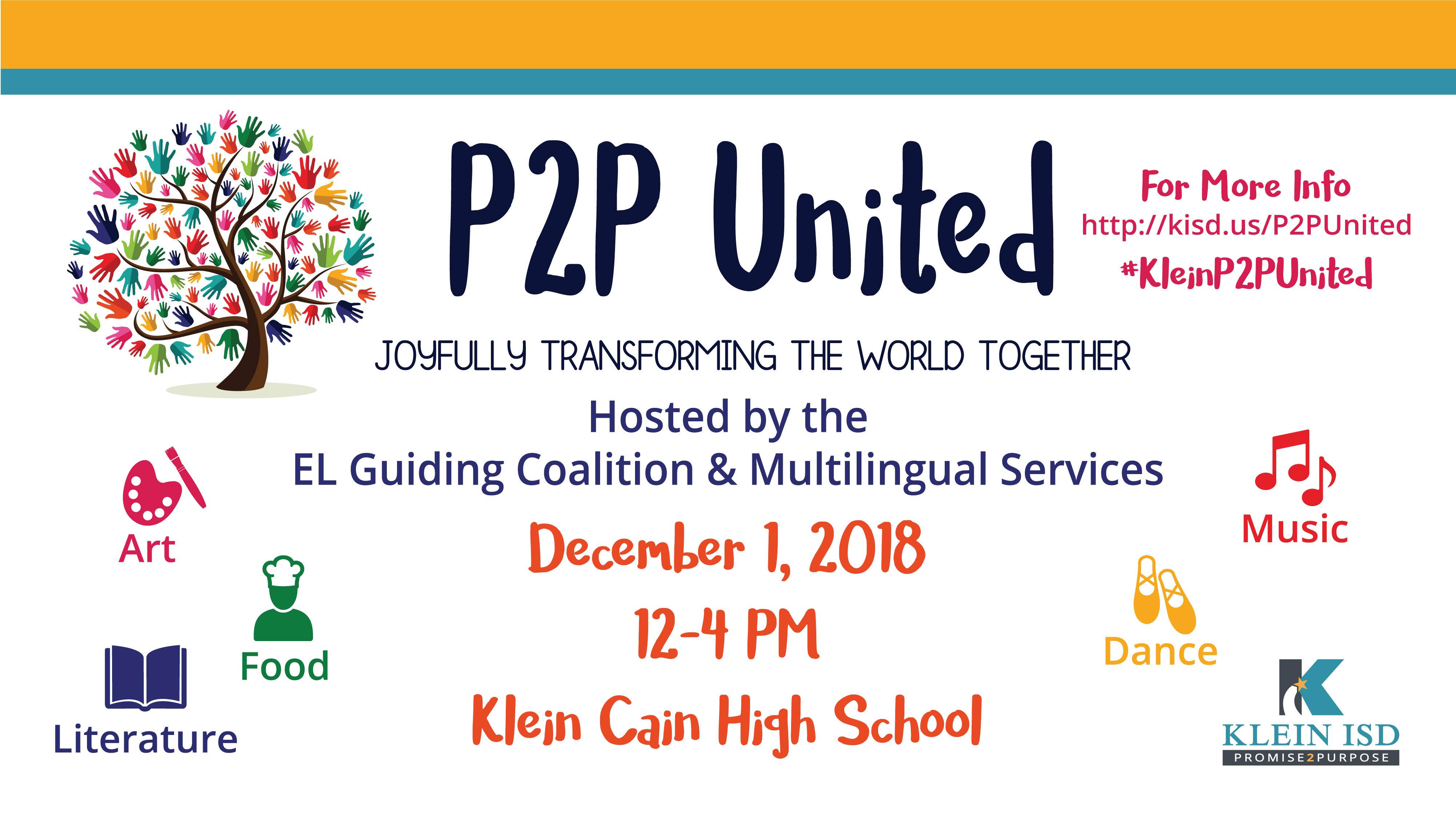 Seeking Participants/Volunteers: P2P United Multicultural Event