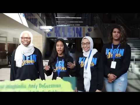 Klein High Students Lead Day of Service