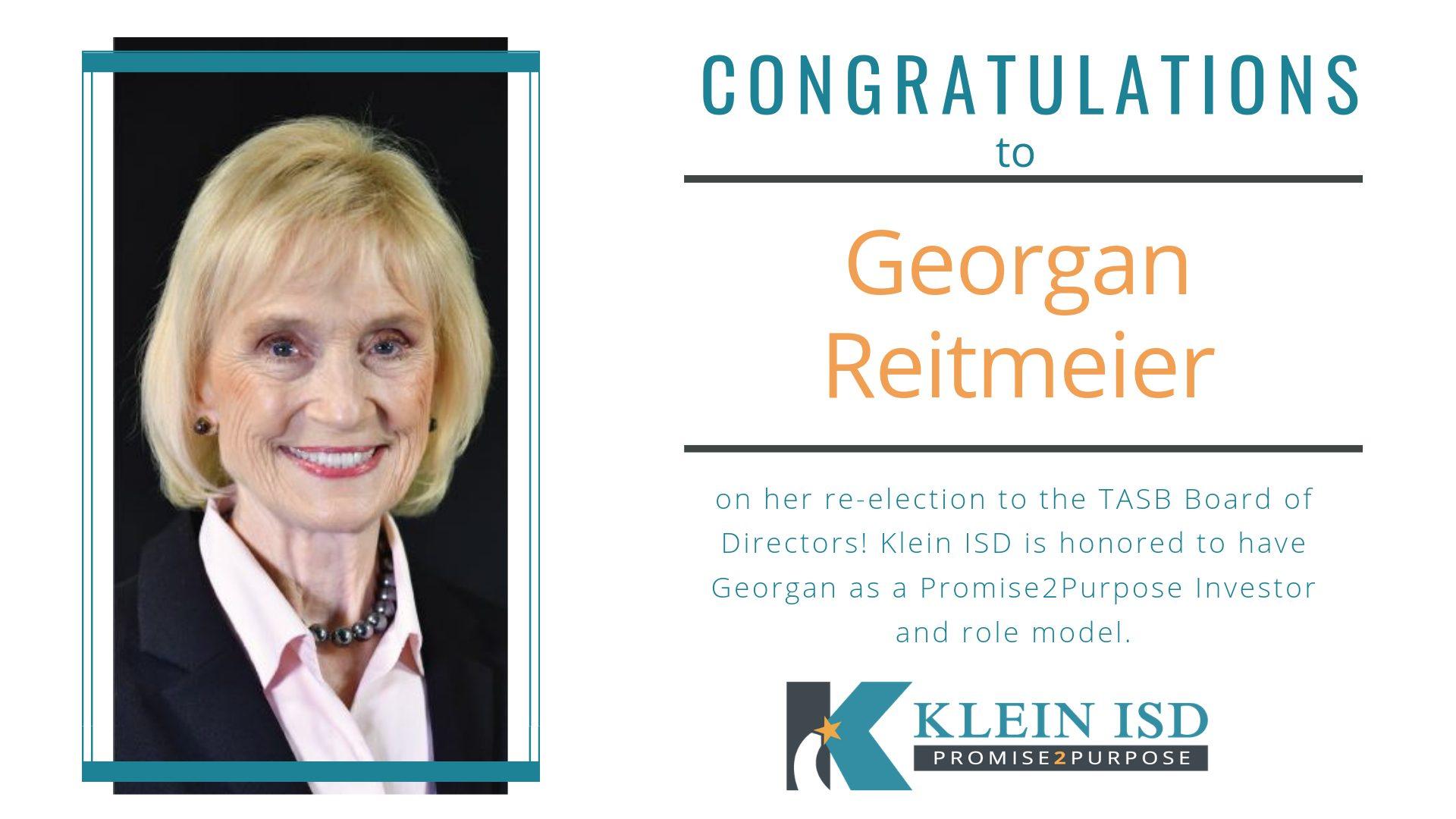 Trustee Georgan Reitmeier Reelected to TASB Board of Directors