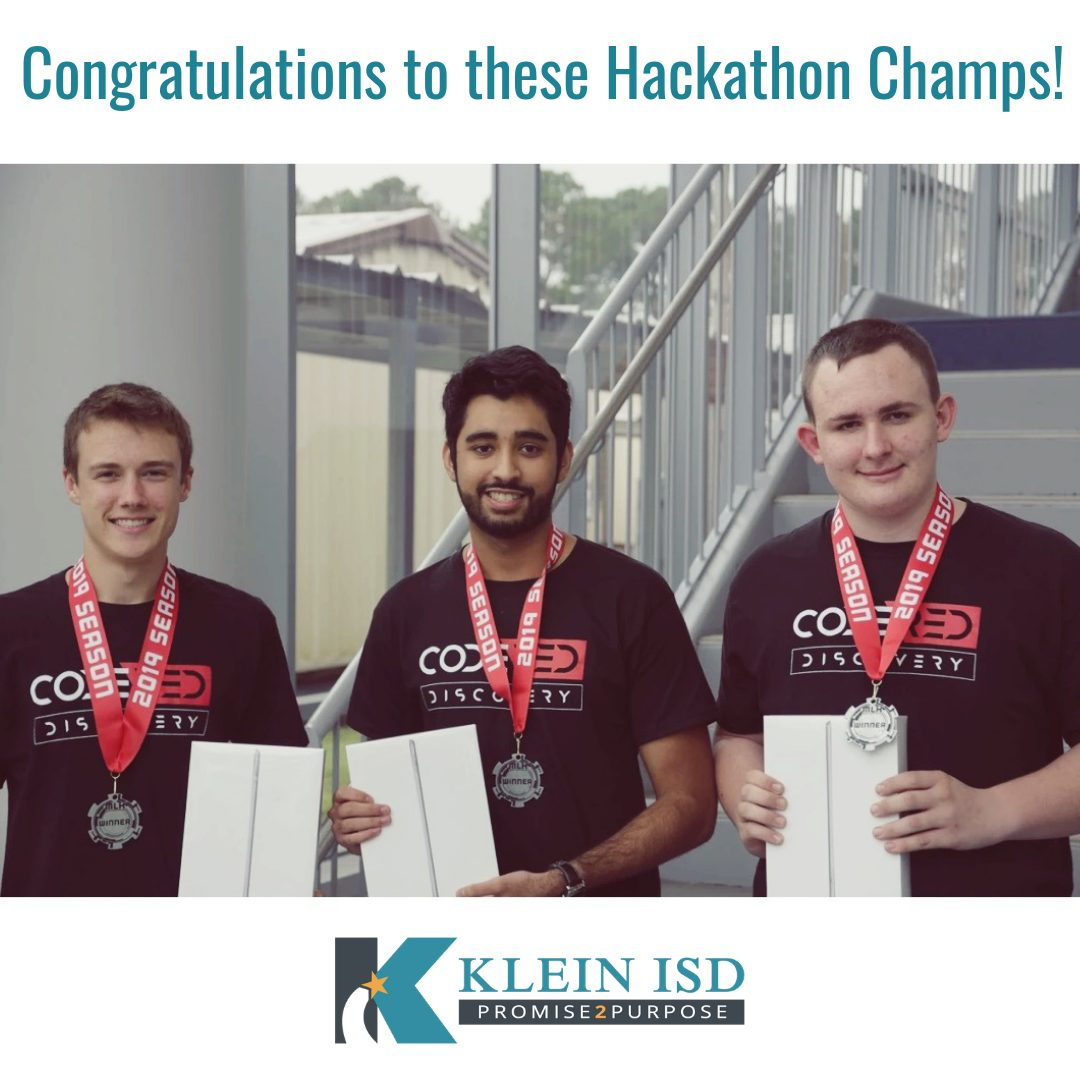 Three High School Students Win Second Place in College Hackathon