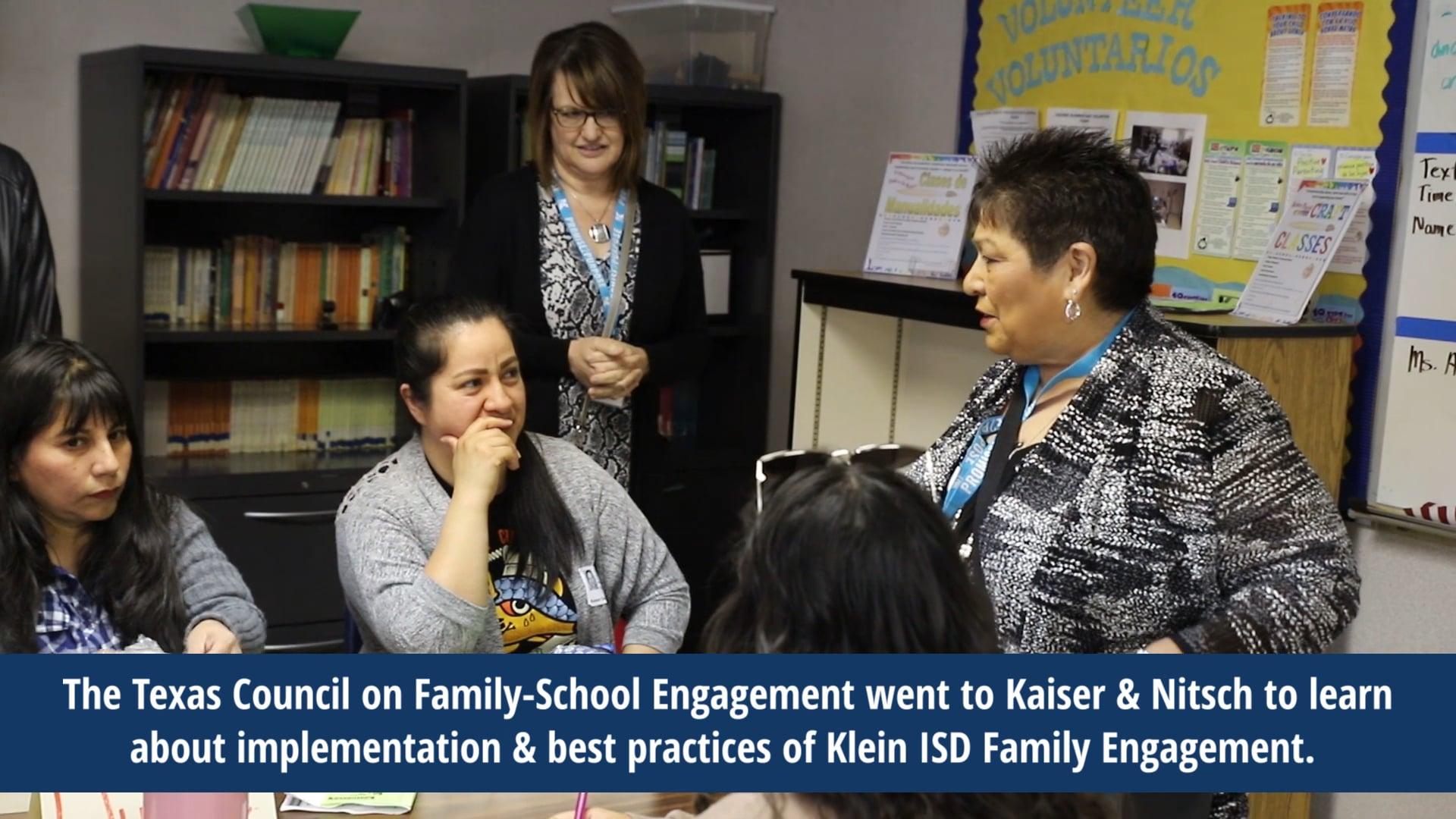 El Consejo de Texas sobre Participación Familia-Escuela visita el Distrito Escolar Independiente de Klein