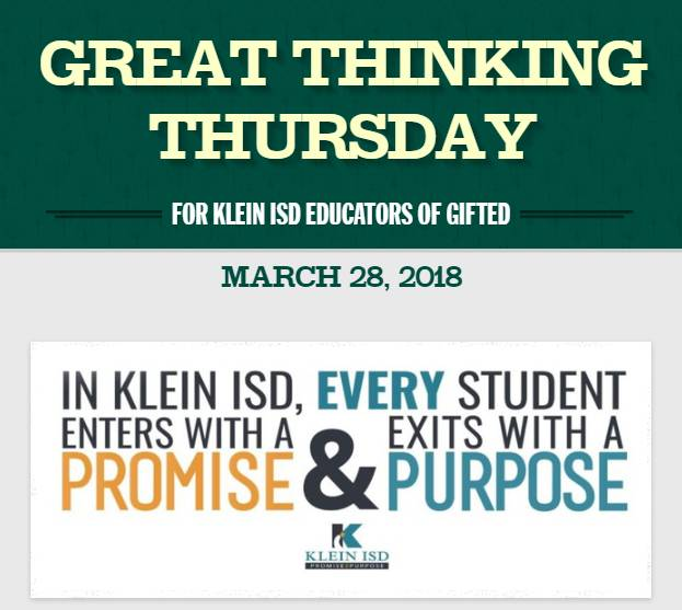 Great Thinking Thursday: March 28