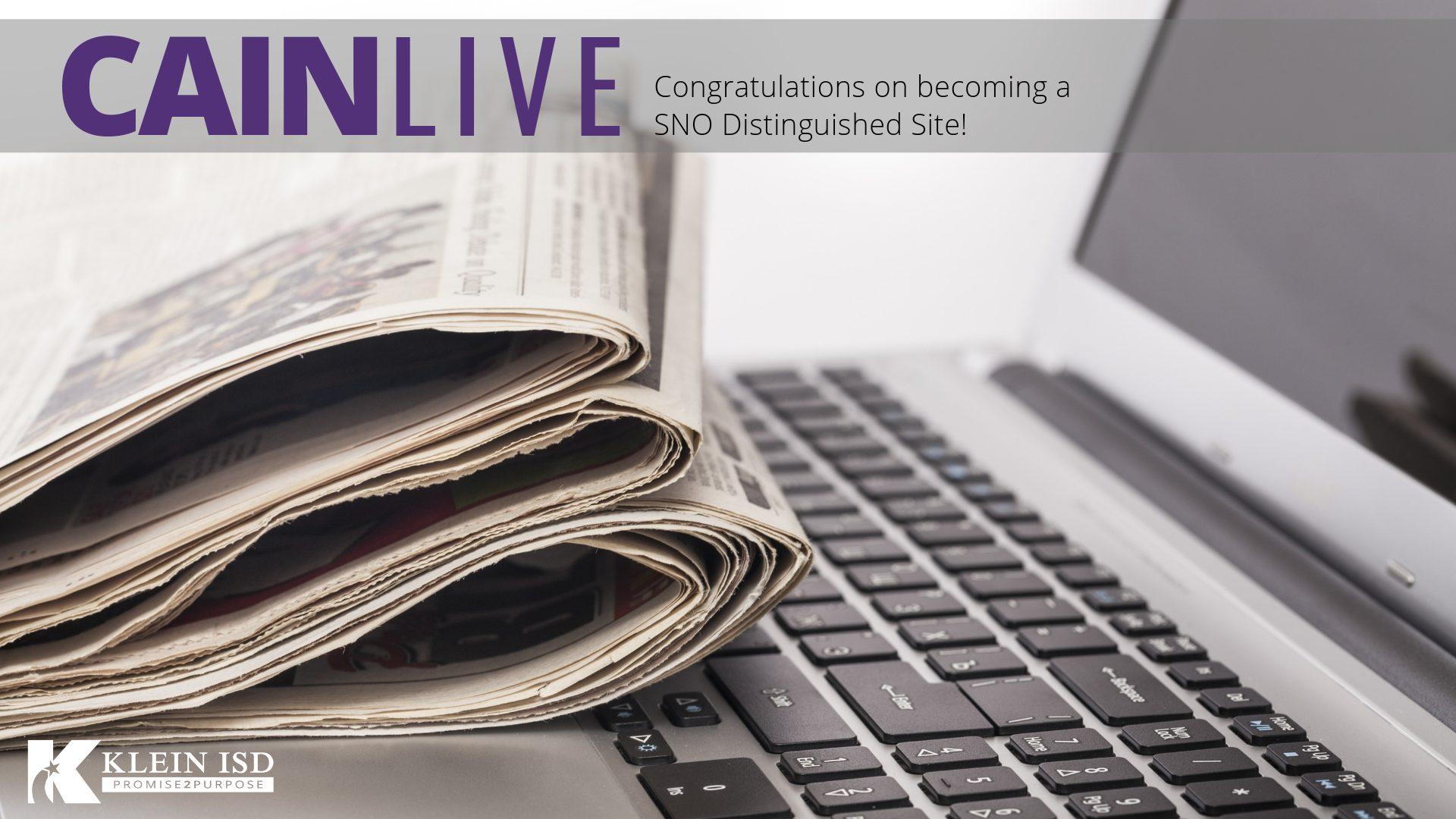 Klein Cain Newspaper Wins National Distinction