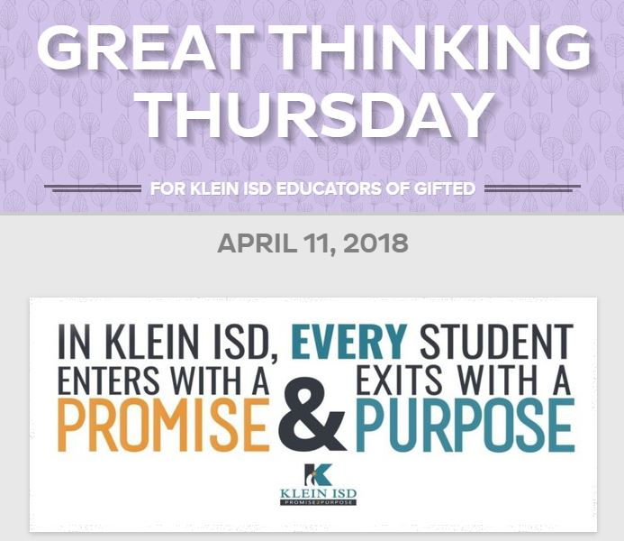 Great Thinking Thursday: April 11
