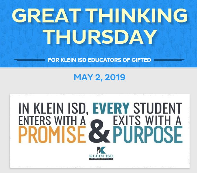 Great Thinking Thursday: May 2