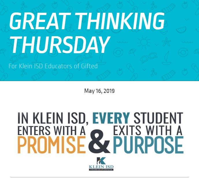 Great Thinking Thursday: May 16