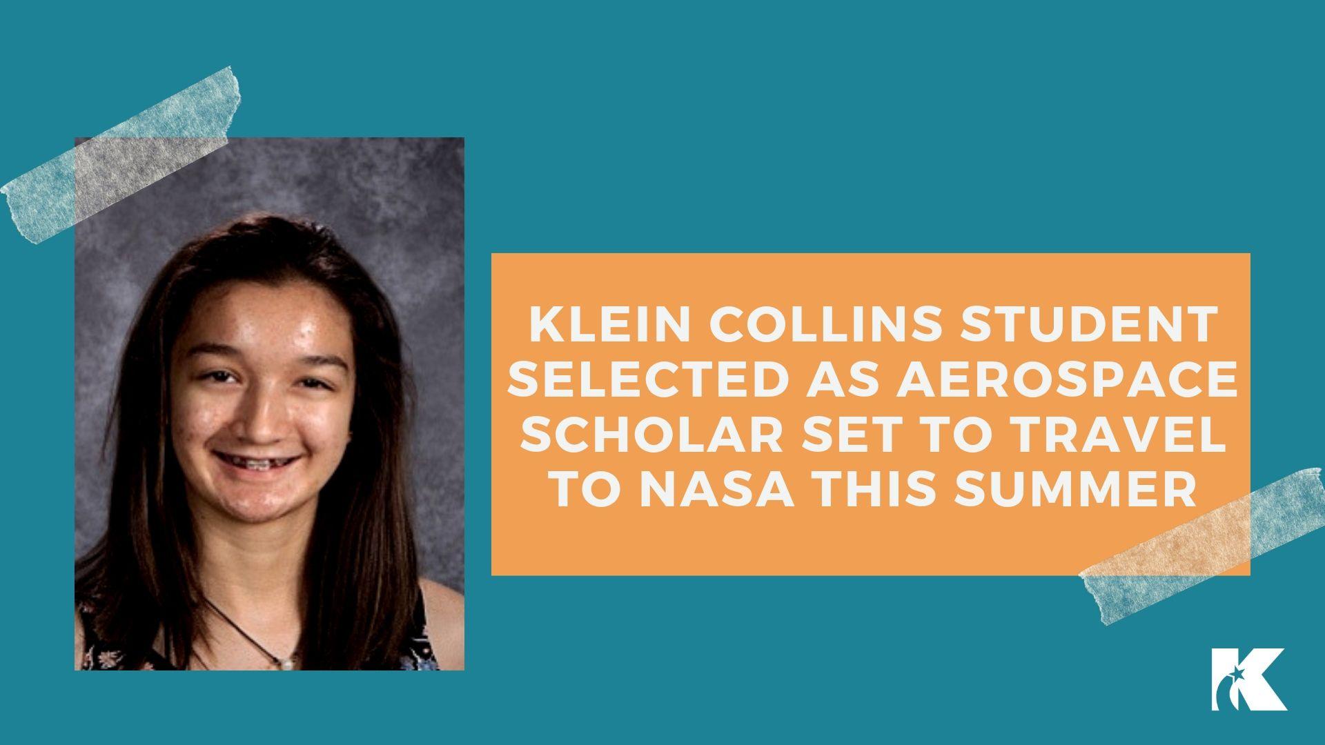 Junior Chosen to Participate in Aerospace Scholars Program