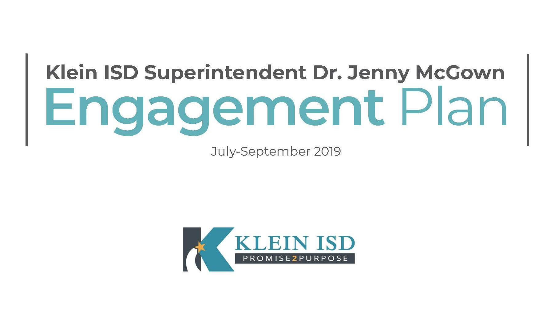 Klein ISD Superintendent Dr. Jenny McGown Releases Engagement Plan Goals