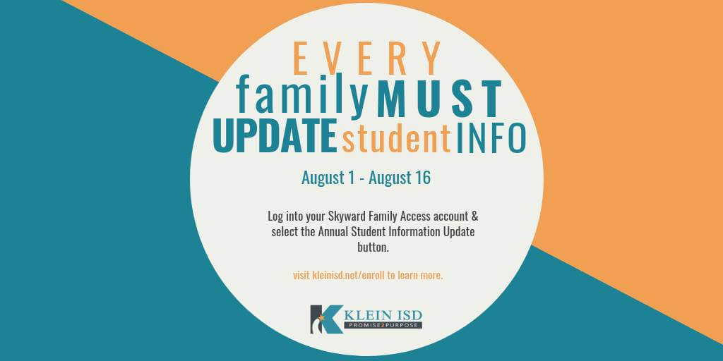 Annual Student Update Open Through August 16