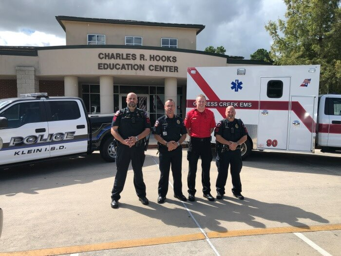 Klein ISD Police Begin Training as EMTs