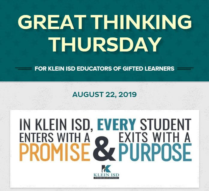 Great Thinking Thursday–August 22
