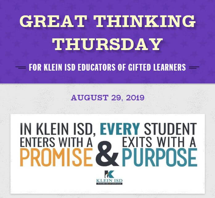 Great Thinking Thursday: August 29