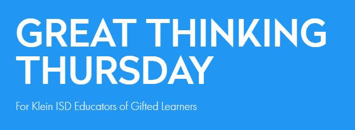 Great Thinking Thursday: September 19