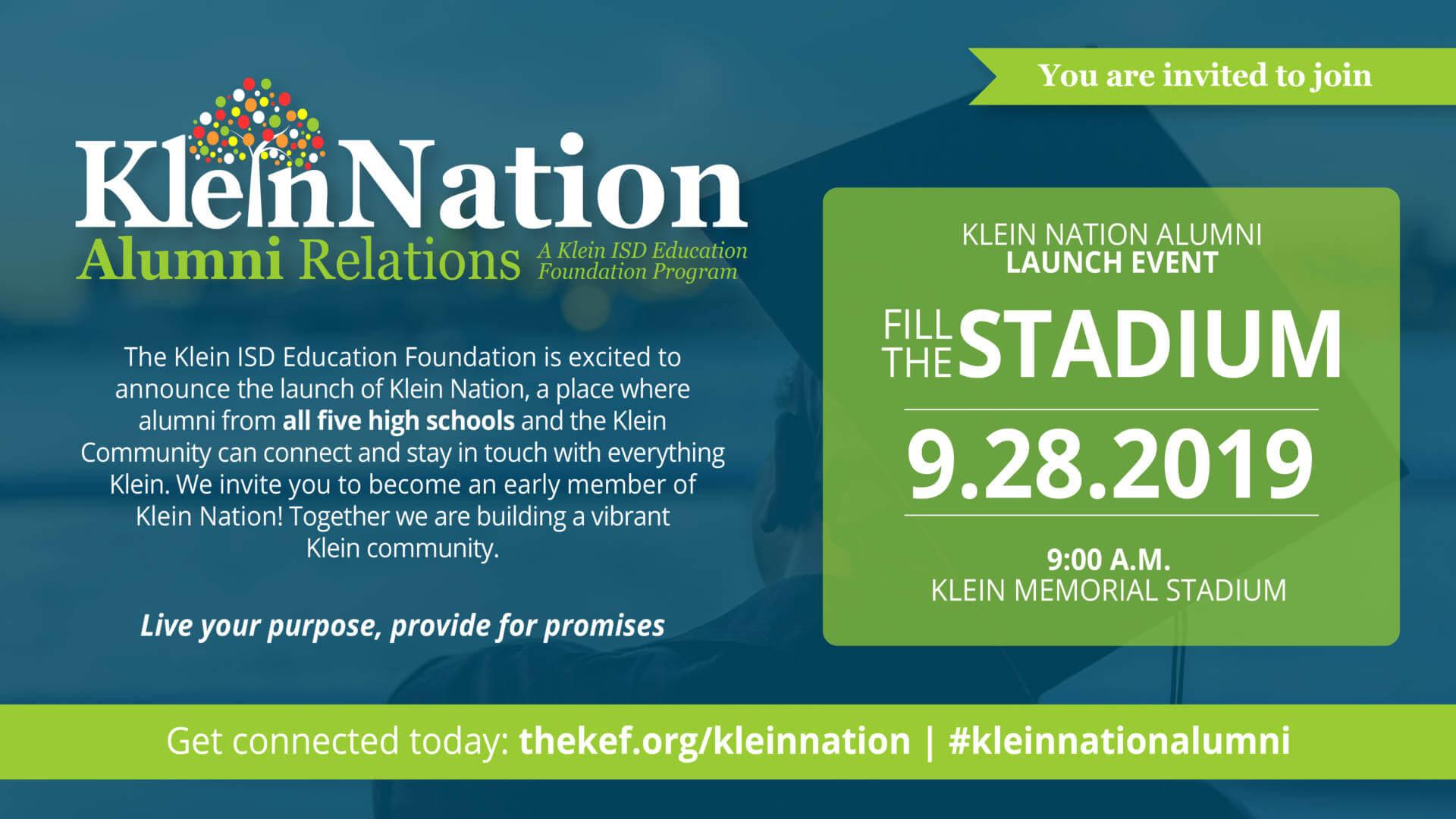 Attention All Klein ISD Alumni – Fill the Stadium