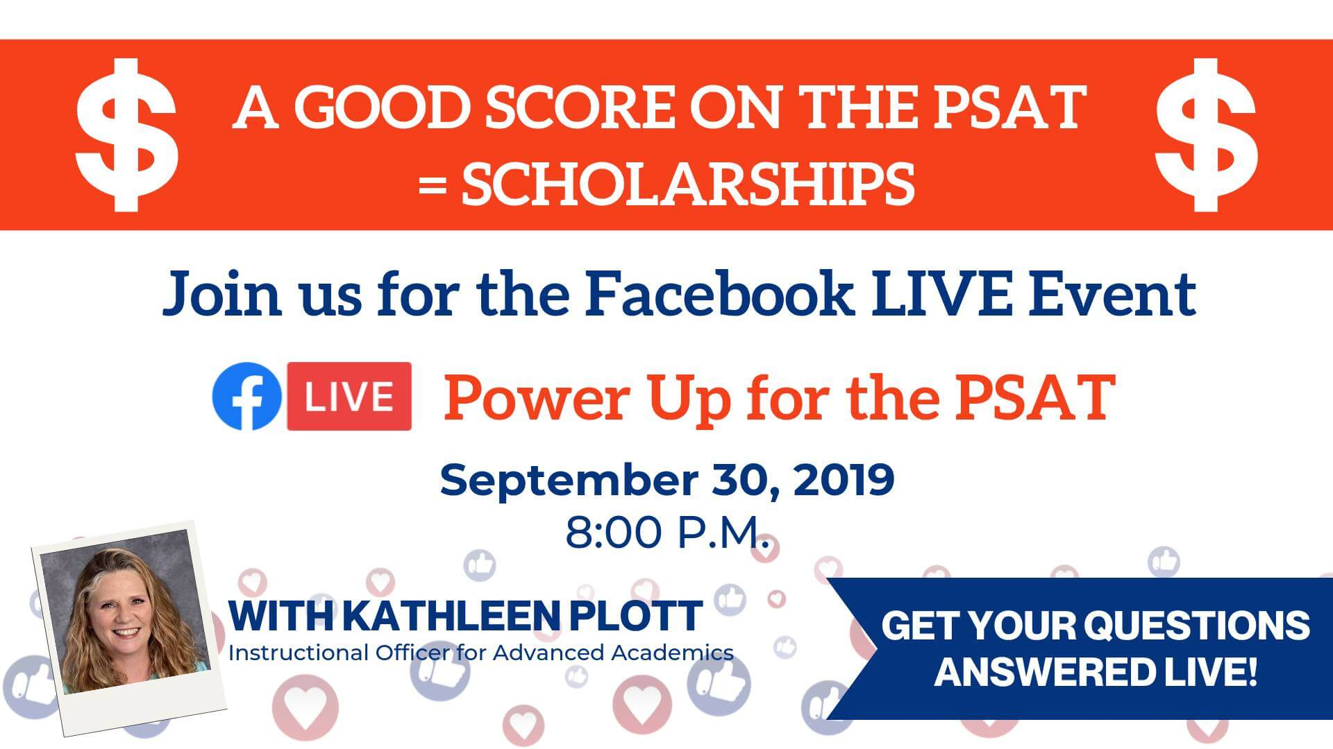 Power Up for the PSAT Facebook Live Event