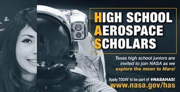 NASA High School Aerospace Scholars Application Open