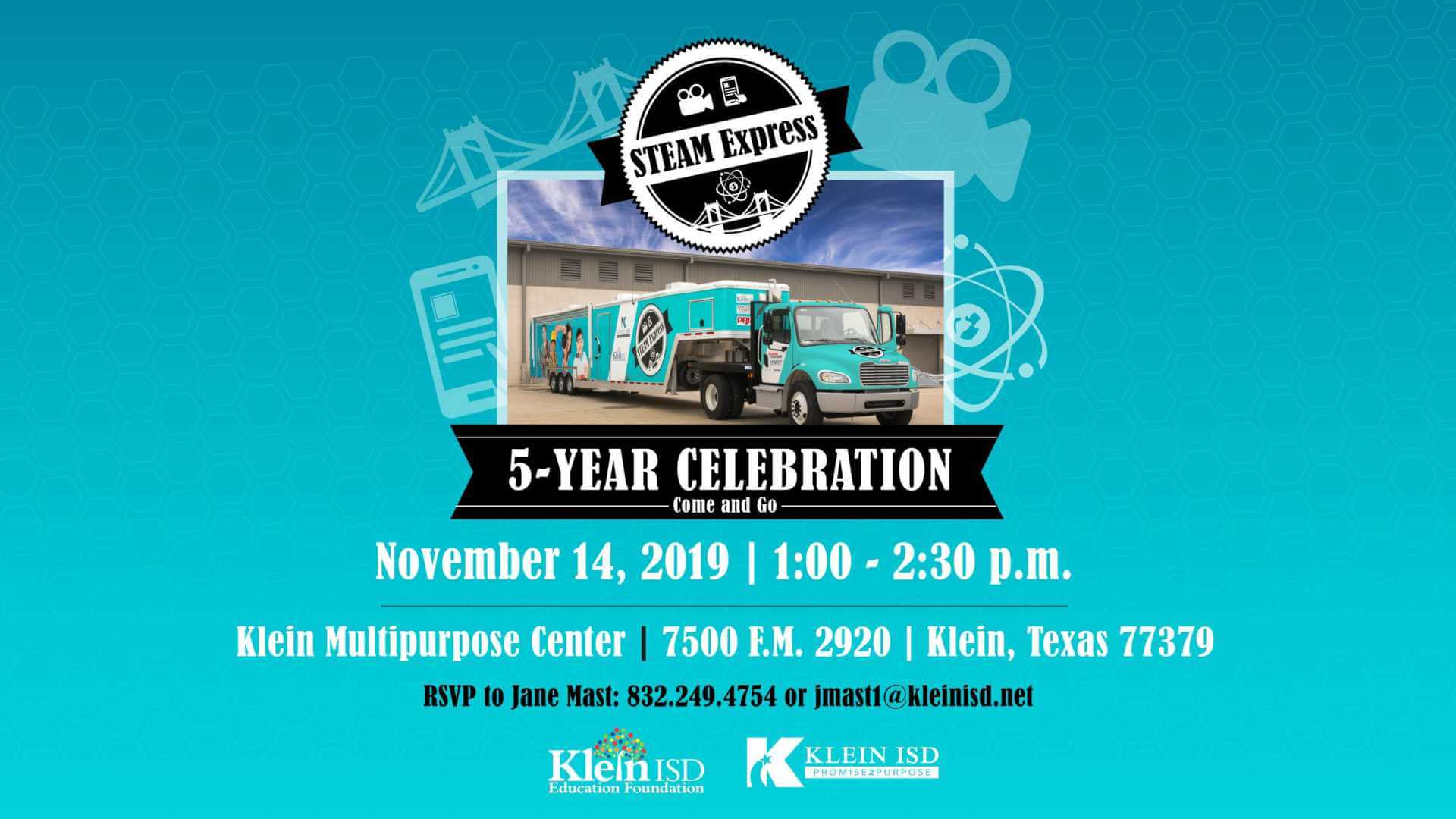 You're Invited: Come Celebrate 5 Years of the STEAM Express with Klein ISD
