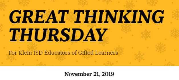 Great Thinking Thursday: November 21
