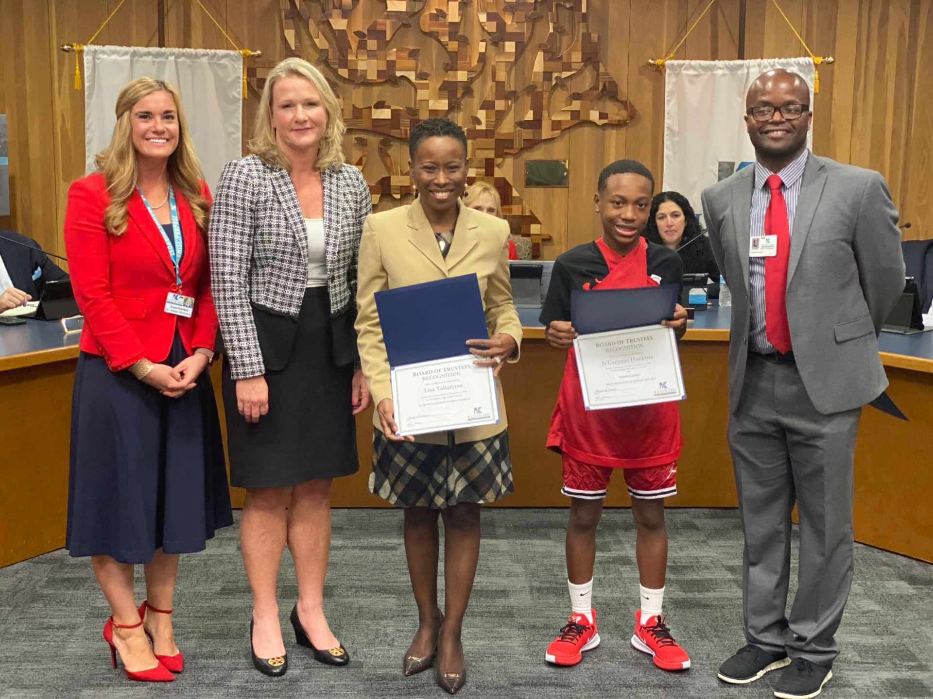 Outstanding Klein Intermediate Students and Educators Recognized at Board Meeting