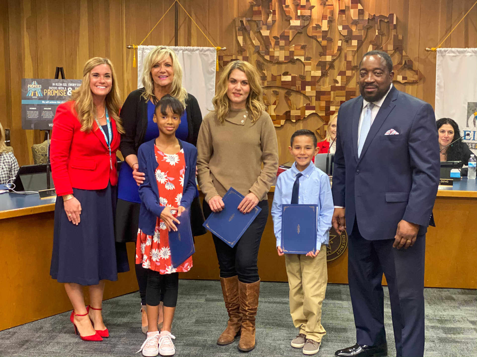 Outstanding Mueller Students and Educators Recognized at Board Meeting