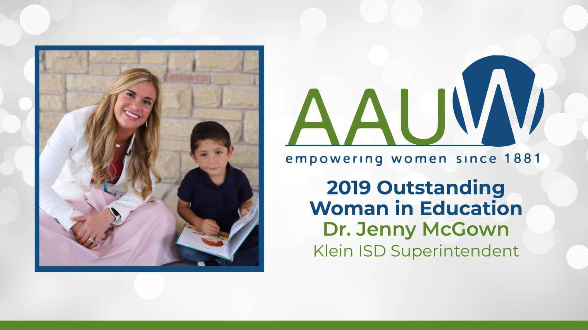 Klein ISD Superintendent Named AAUW Outstanding Woman in Education