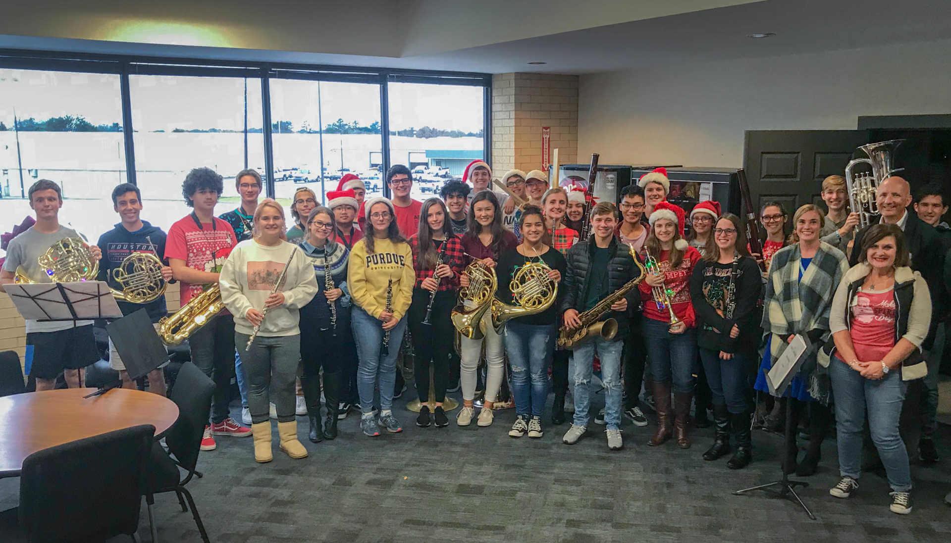 Klein Oak Wind Ensemble Plays Impromptu Concert at Central Office