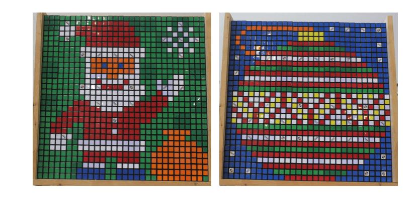 Rubik's Cube Team Creates Holiday Magic