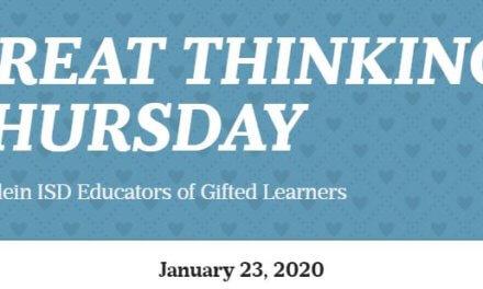 Great Thinking Thursday: January 23