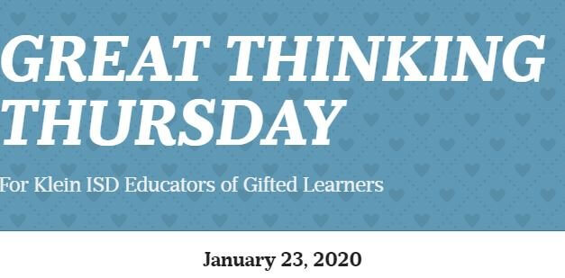 Great Thinking Thursday: January 23