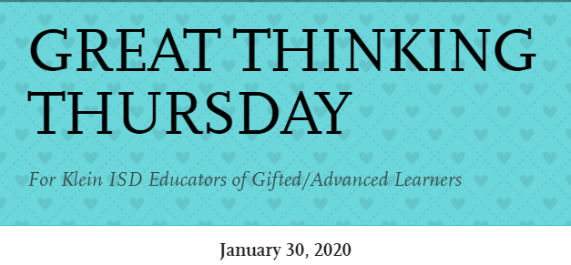 Great Thinking Thursday: January 30