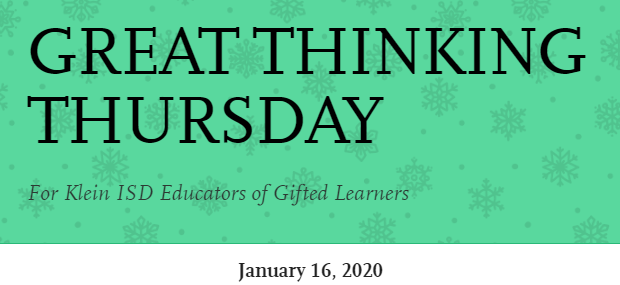 Great Thinking Thursday: January 6