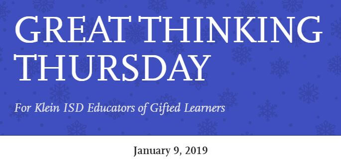 Great Thinking Thursday: January 9