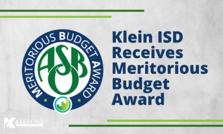 Klein ISD Receives Meritorious Budget Award