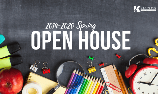 Spring Open House Schedule Released