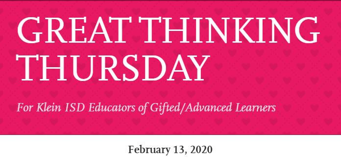 Great Thinking Thursday: February 13