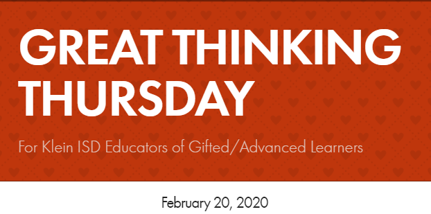 Great Thinking Thursday: February 20
