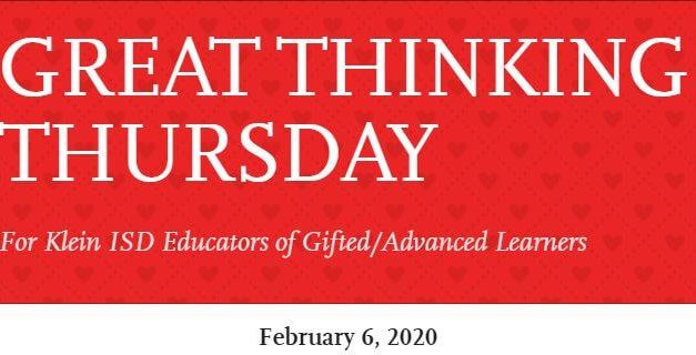 Great Thinking Thursday: February 6
