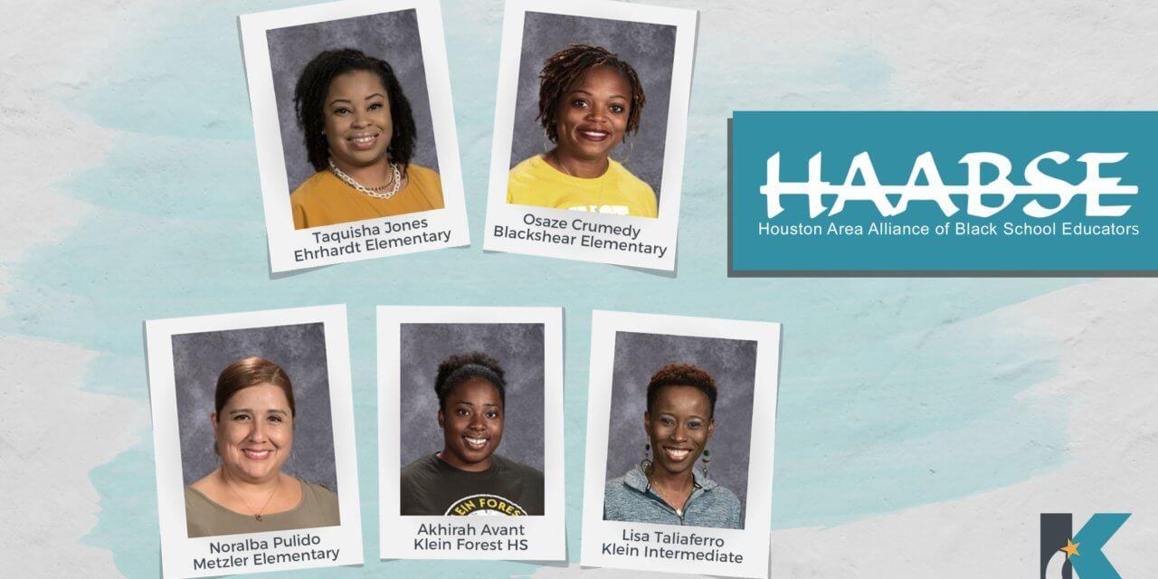 5 Klein ISD Teachers Recognized by Houston Area Alliance of Black School Educators