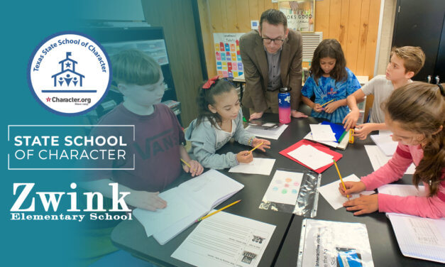 Zwink Elementary Recognized as State School of Character