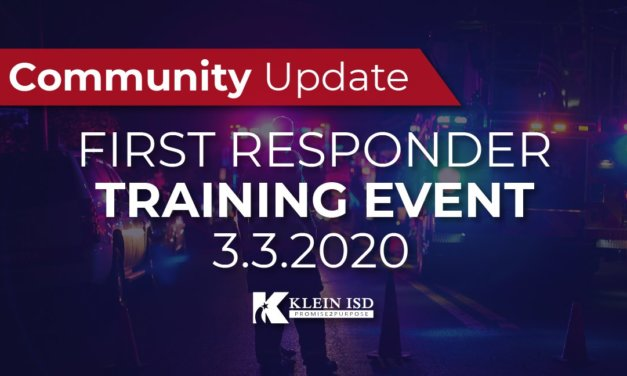 Klein ISD to Host First Responder Training Event March 3 at KMPC