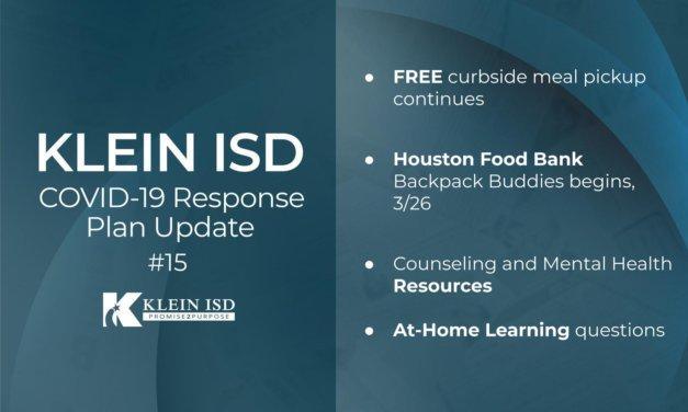 更新#15 –克莱因ISD COVID-19