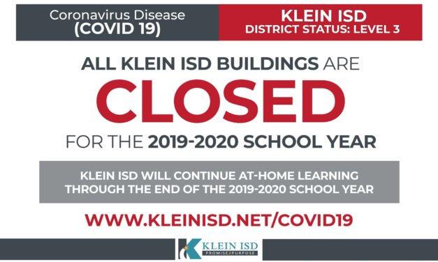 Update #20 – Klein ISD COVID-19
