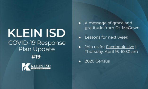 Update #19 – Klein ISD COVID-19