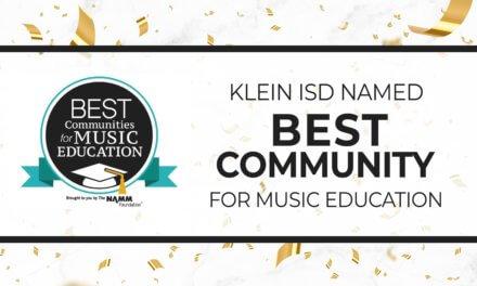 Klein ISD Nombrada Mejor Comunidad para la Educación Musical