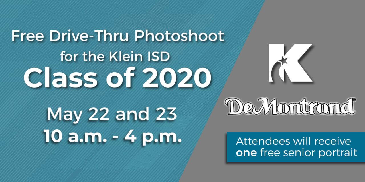 Free Drive-Thru Senior Photos for Klein ISD Class of 2020