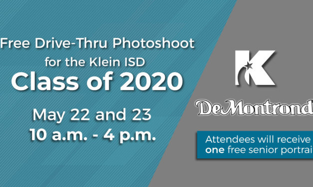Free Drive-Thru Senior Photos for Klein ISD Class of 2020