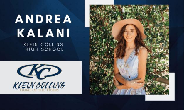 Klein Collins Senior Scholar Spotlight – Andrea Kalani